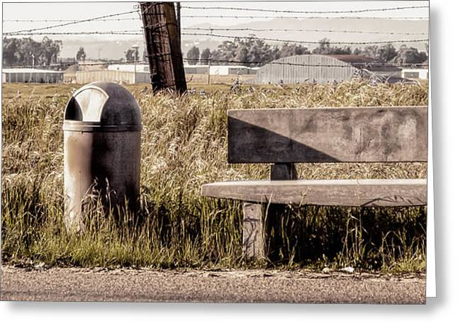 Bus Stop Greeting Card by Caitlyn  Grasso