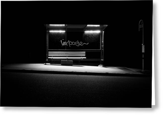 Busstop Greeting Cards - Bus Stop Greeting Card by Murray Fox