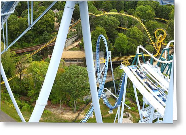 Drop Photographs Greeting Cards - Busch Gardens - 121226 Greeting Card by DC Photographer