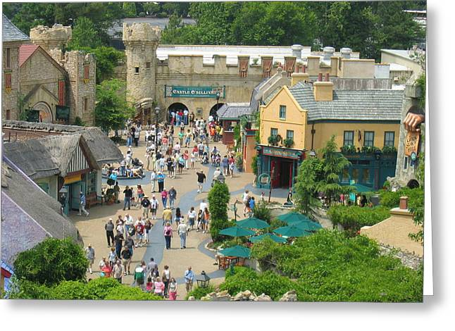 Excitement Greeting Cards - Busch Gardens - 121227 Greeting Card by DC Photographer
