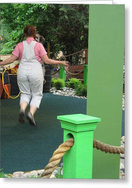 Busch Gardens - Animal Show - 121234 Greeting Card by DC Photographer