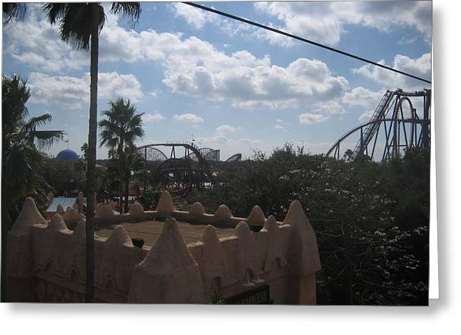 Rollercoaster Photographs Greeting Cards - Busch Gardens Tampa - 01134 Greeting Card by DC Photographer