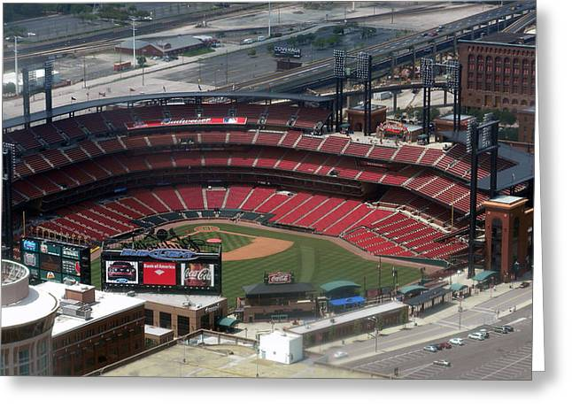 Busch Memorial Stadium Greeting Card by Thomas Woolworth