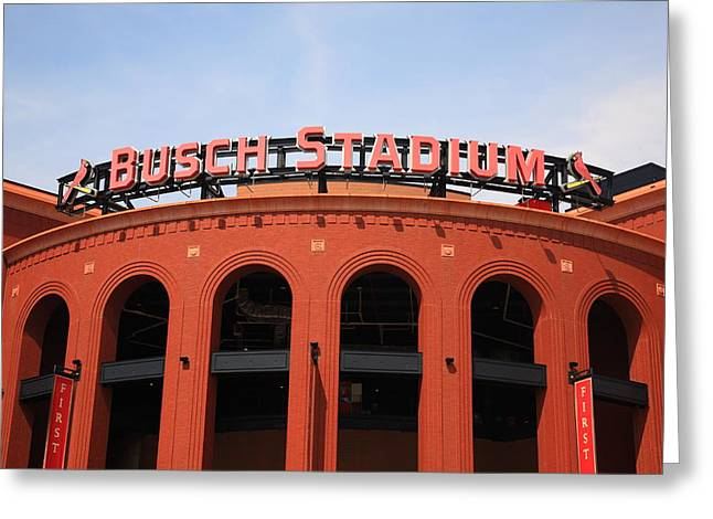 Busch Stadium - St. Louis Cardinals Greeting Card by Frank Romeo