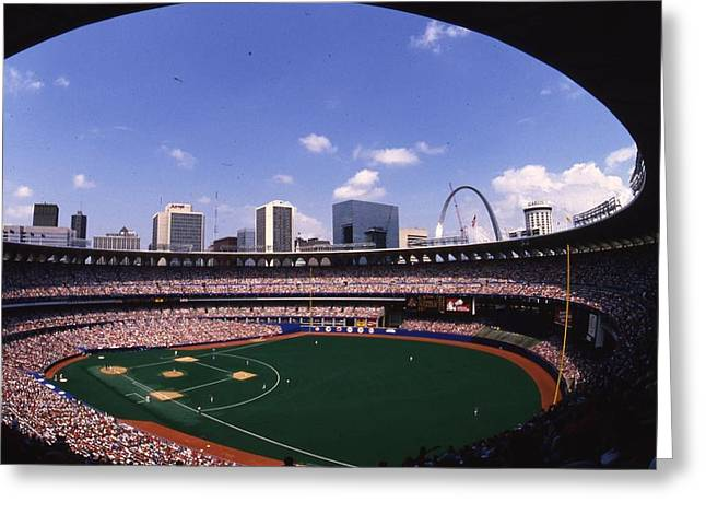 Busch Greeting Cards - Busch Stadium St. Louis Mo Greeting Card by Retro Images Archive