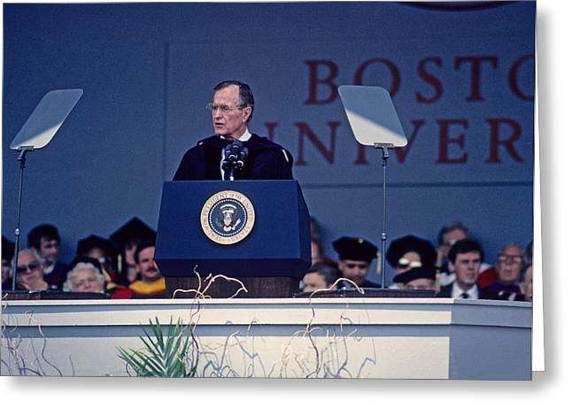 Bush 41 01 Greeting Card by Jeff Stallard
