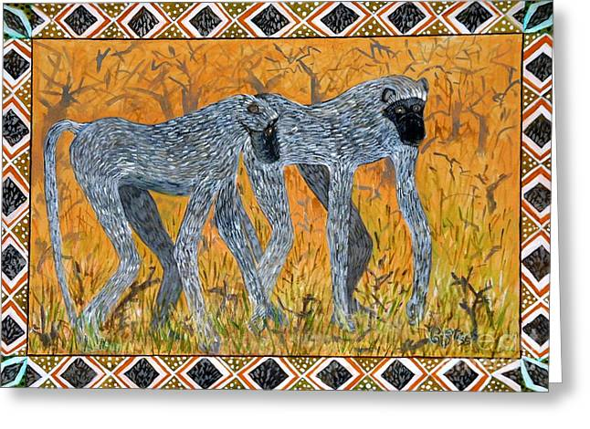 Carolinestreetart Greeting Cards - Bushveld Bliss Greeting Card by Caroline Street