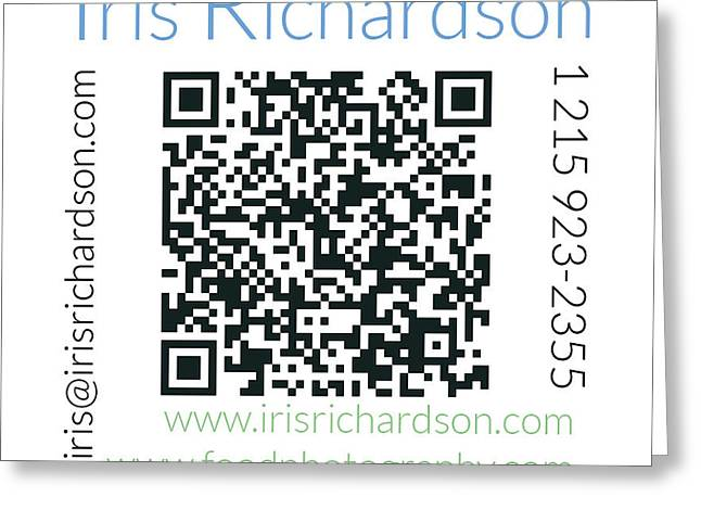 Card For Photographer Greeting Cards - Business Card Back Greeting Card by Iris Richardson