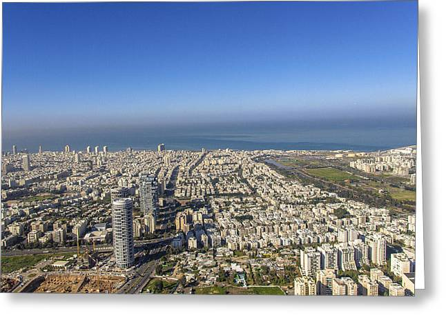 Ofir Ben Tov Greeting Cards - Business District, Tel Aviv Greeting Card by Ofir Ben Tov