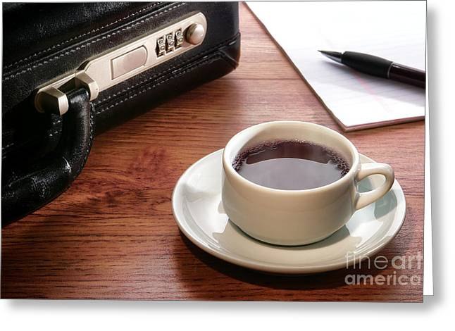 Workplace Photographs Greeting Cards - Business Meeting Greeting Card by Olivier Le Queinec