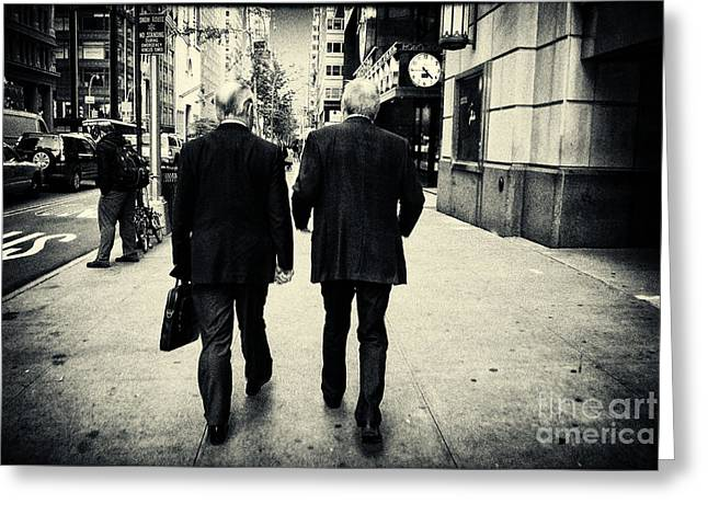 Filmnoir Greeting Cards - Business Men Greeting Card by Sabine Jacobs