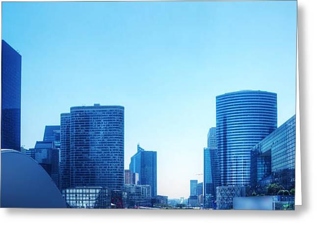 Business Skyscrapers  Paris France Greeting Card by Michal Bednarek
