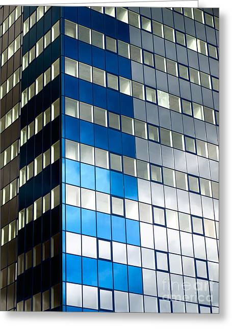 Enterprise Photographs Greeting Cards - Business tower Greeting Card by Sinisa Botas