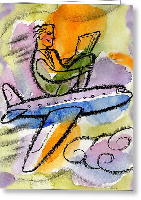 Business Trip Greeting Card by Leon Zernitsky