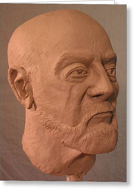 Male Sculptures Greeting Cards - Bust Greeting Card by Dawn Henderson