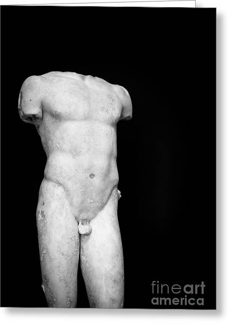 Naked Men Greeting Cards - Bust ed Greeting Card by Edward Fielding