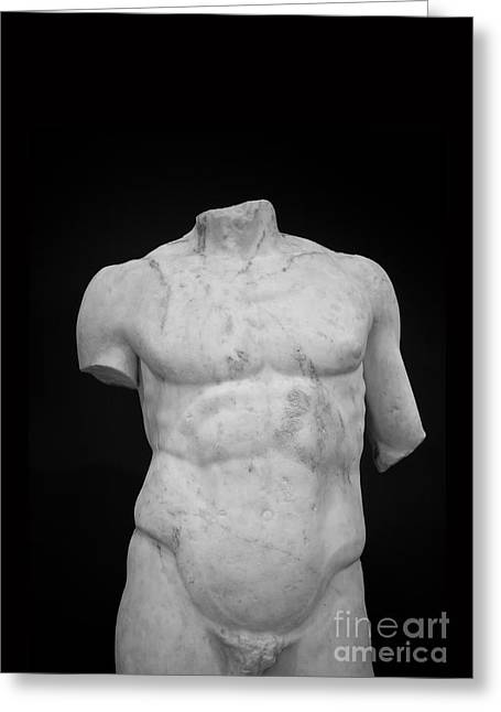 Torso Greeting Cards - Bust Greeting Card by Edward Fielding