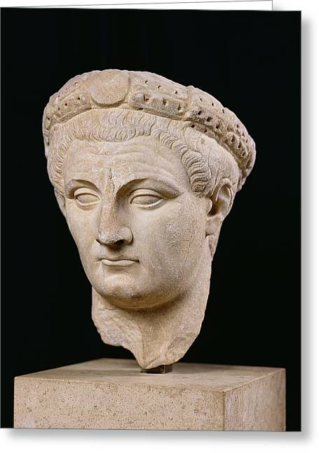Marble Sculptures Greeting Cards - Bust of Emperor Claudius Greeting Card by Anonymous