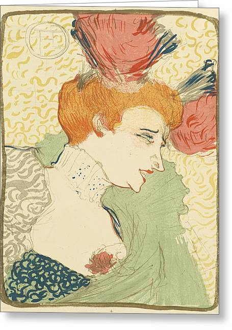 Bust Of Mlle. Marcelle Lender Greeting Card by Toulouse-Lautrec