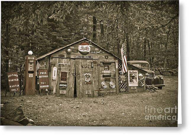Rural Maine Roads Photographs Greeting Cards - Busted Knuckle Dr Greeting Card by Alana Ranney