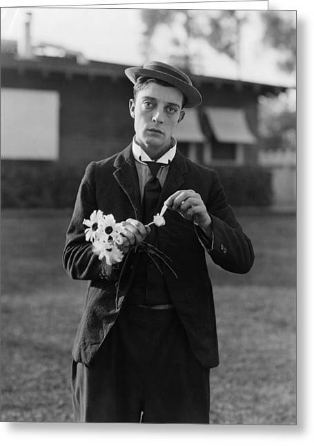 Photograpy Greeting Cards - Buster Keaton Portrait Greeting Card by Nomad Art And  Design