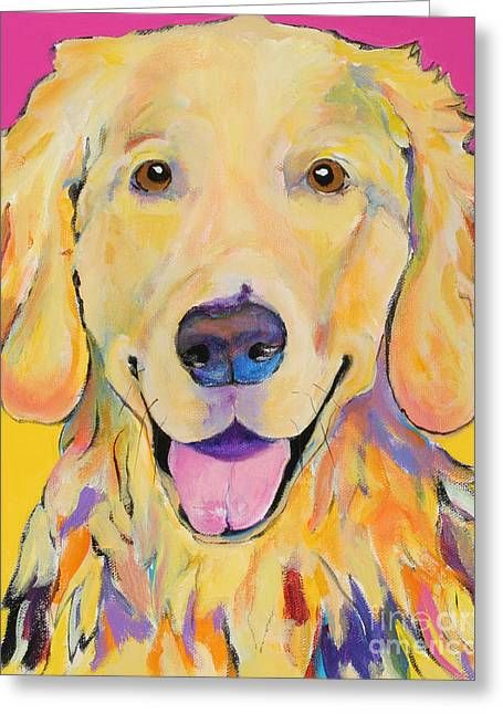 Buster Greeting Card by Pat Saunders-White