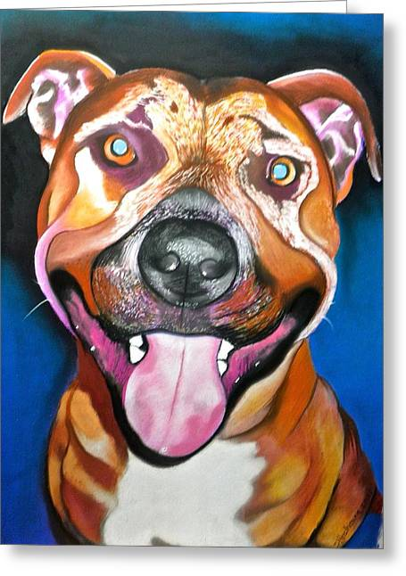 Hound Pastels Greeting Cards - Buster Greeting Card by Susan Robinson