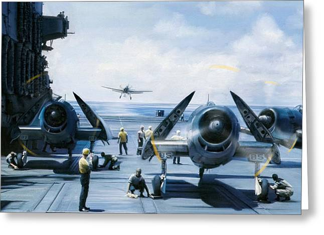 Carrier Greeting Cards - Busy Deck Greeting Card by Dale Jackson