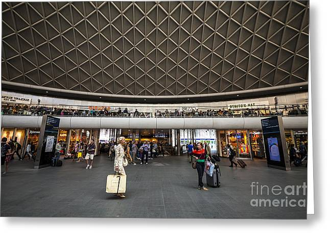 Geometric Style Greeting Cards - Busy Station Greeting Card by Svetlana Sewell