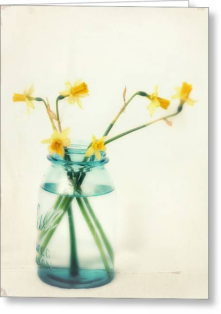 Daffodils Greeting Cards - But I Love You Still Greeting Card by Amy Tyler