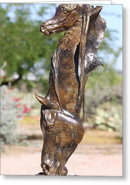 Sized Sculptures Greeting Cards - But Mamma Look by J Anne Butler Greeting Card by J Anne Butler