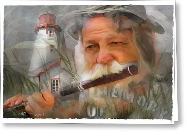 Flautist Greeting Cards - But Not Forgotten Greeting Card by Bob Salo