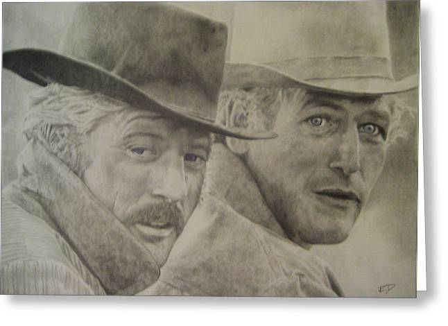 Butch Cassidy And The Sundance Kid Greeting Card by Robbie Douglas