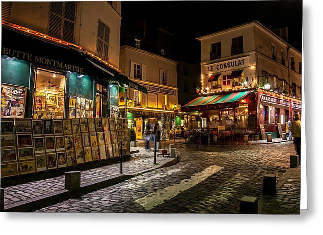 Long Street Greeting Cards - Bute Montmartre Paris France Greeting Card by Pierre Leclerc Photography
