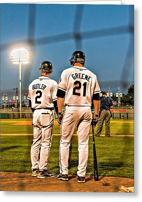 Baseball Uniform Greeting Cards - Butler and Greene Greeting Card by Maria Coulson