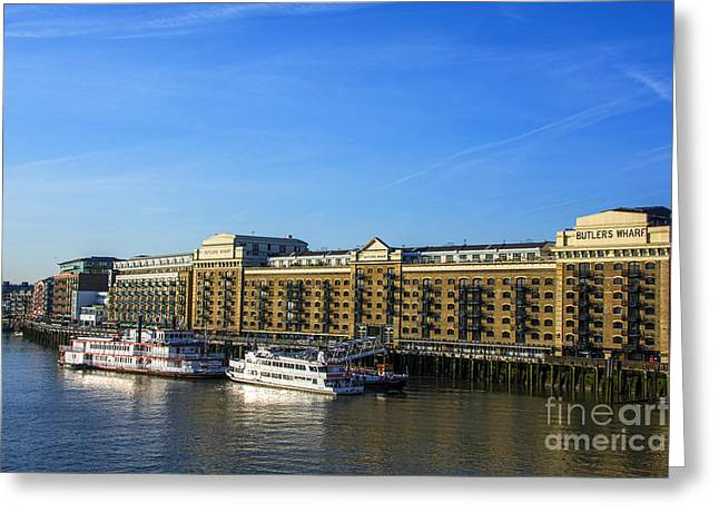 Steam Ship Greeting Cards - Butlers Wharf Greeting Card by Chris Thaxter