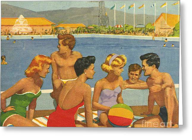 Butlin�s  1950s Uk Holidays Butlins Greeting Card by The Advertising Archives