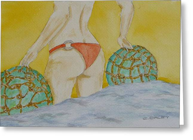Butt And  Bouys Greeting Card by Charles  Daley