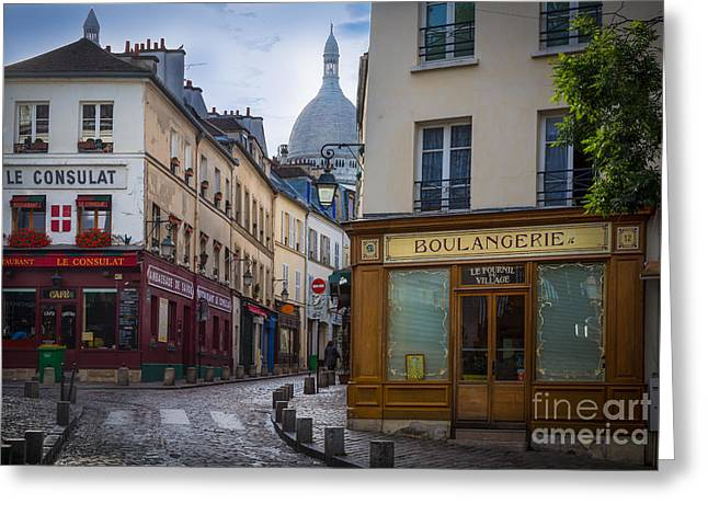 Europa Greeting Cards - Butte de Montmartre Greeting Card by Inge Johnsson