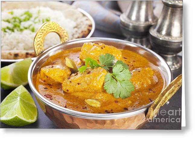 Curry Greeting Cards - Butter Chicken Curry Greeting Card by Colin and Linda McKie