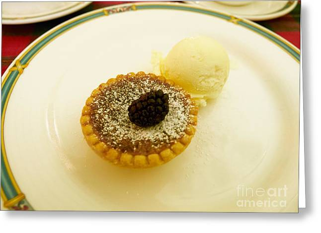 Vanilla Ice Cream Greeting Cards - Butter Tart with Ice Cream Greeting Card by Louise Heusinkveld