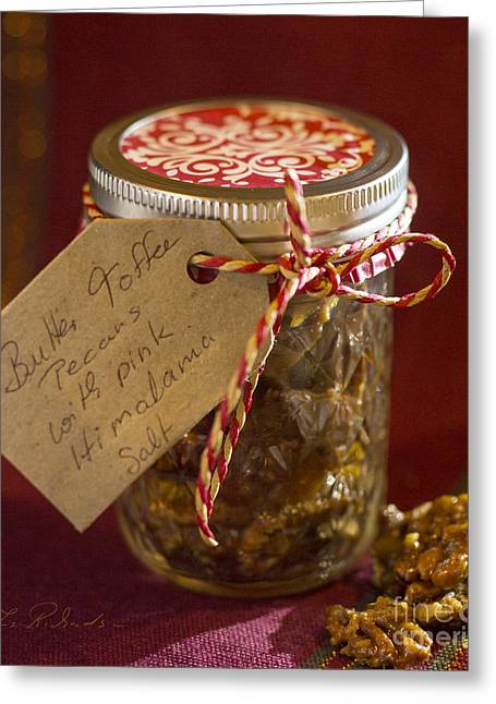Owner Photographs Greeting Cards - Butter Toffee Pecan Nuts with Salt Greeting Card by Iris Richardson