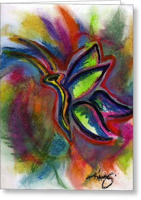 Colorful Photos Pastels Greeting Cards - ButterFingers Greeting Card by Kryztina Spence