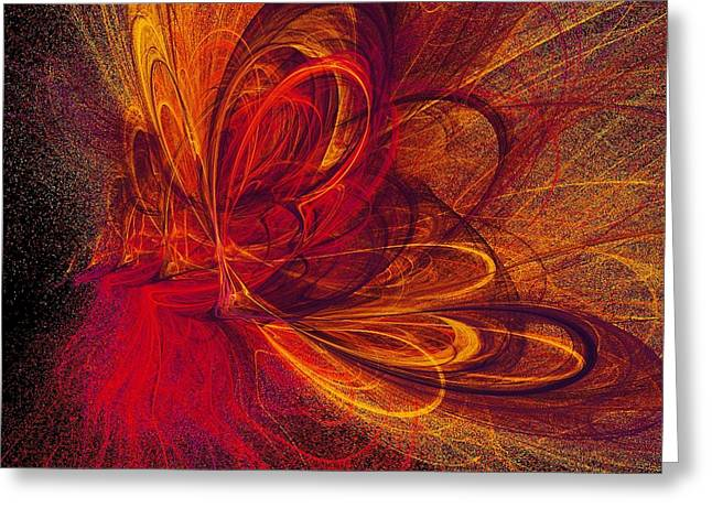 Abstract Digital Greeting Cards - Butterfire Greeting Card by Sharon Lisa Clarke