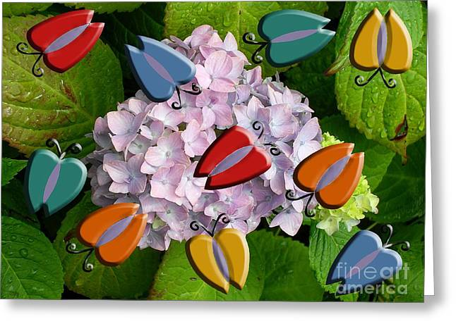 Abstract Butterfly Prints Greeting Cards - Butterflies After The Rain Greeting Card by Patrick J Murphy