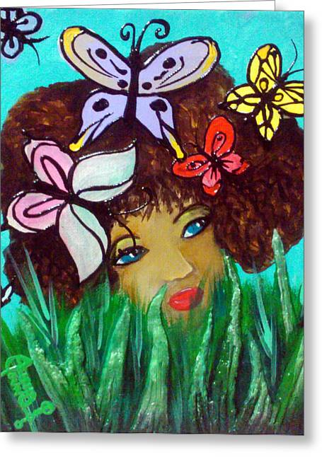 Grass Reliefs Greeting Cards - Butterflies At Play Greeting Card by Ohso Faboolus