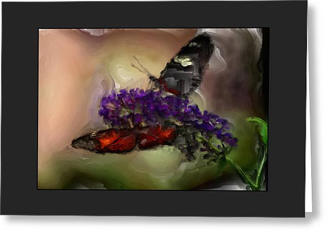Big Blue Marble Greeting Cards - Butterflies at the Park Greeting Card by Kelly Gibson