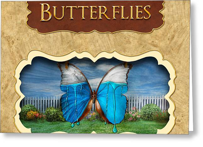 Lepidopterist Greeting Cards - Butterflies button Greeting Card by Mike Savad