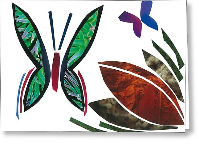Invertebrates Mixed Media Greeting Cards - Butterflies Greeting Card by Earl ContehMorgan