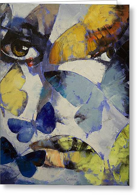 Butterflies Paintings Greeting Cards - Butterflies Greeting Card by Michael Creese